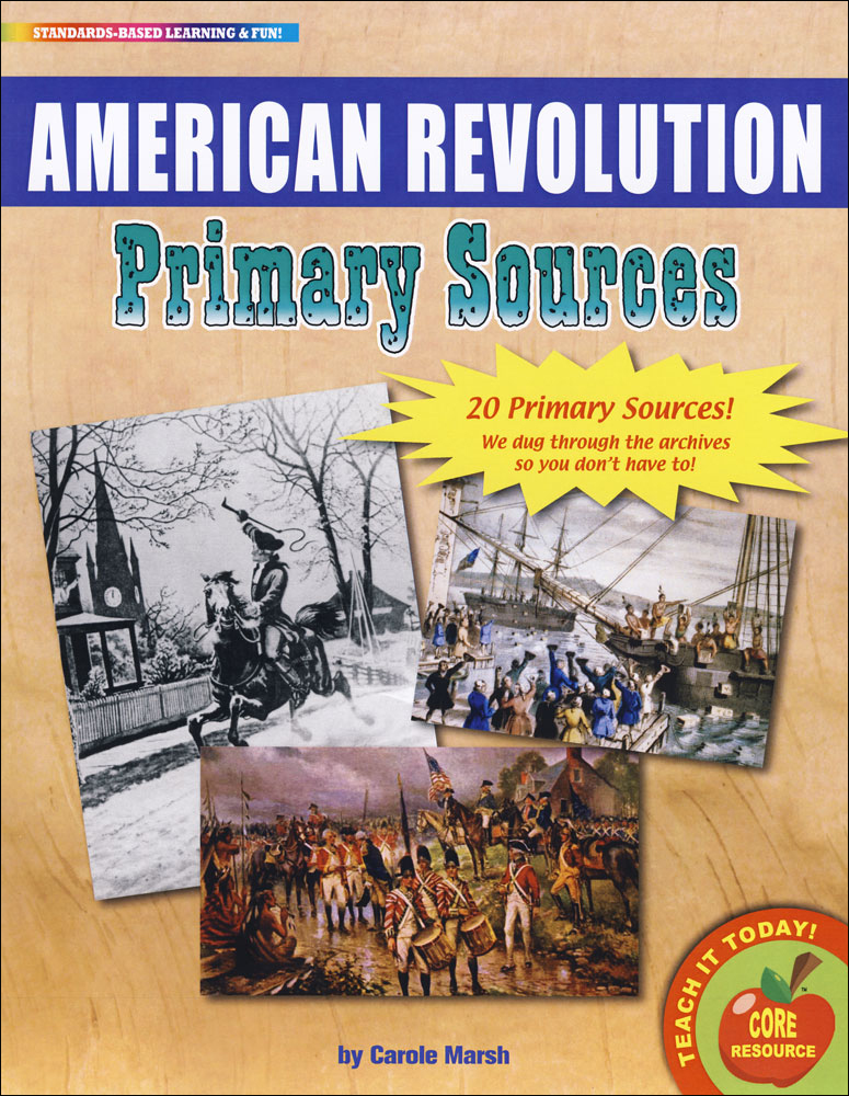 American Revolution Primary Source Document Set