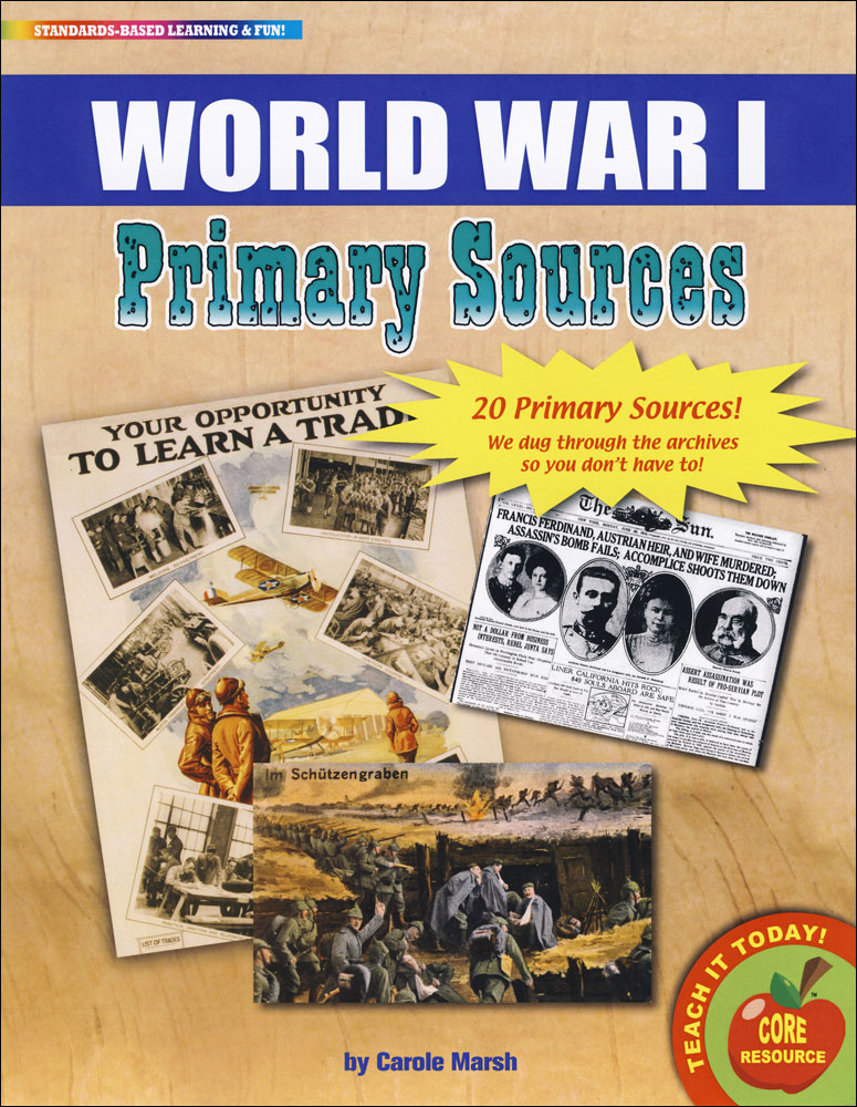 World War I Primary Source Document Set