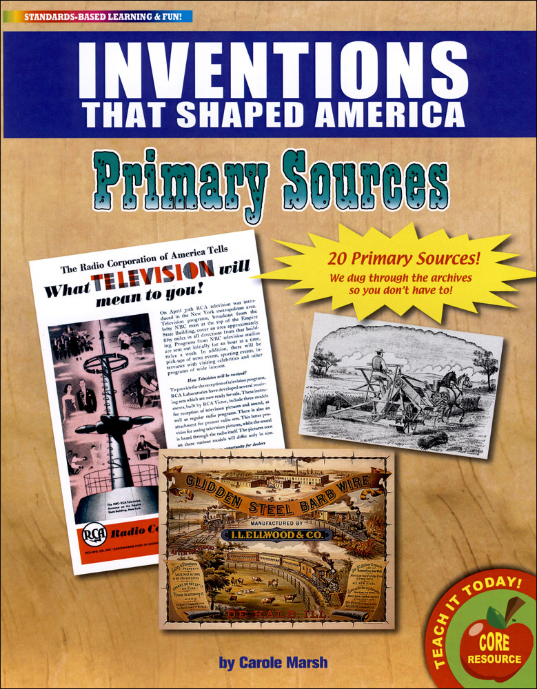 Inventions That Shaped America Primary Source Document Set