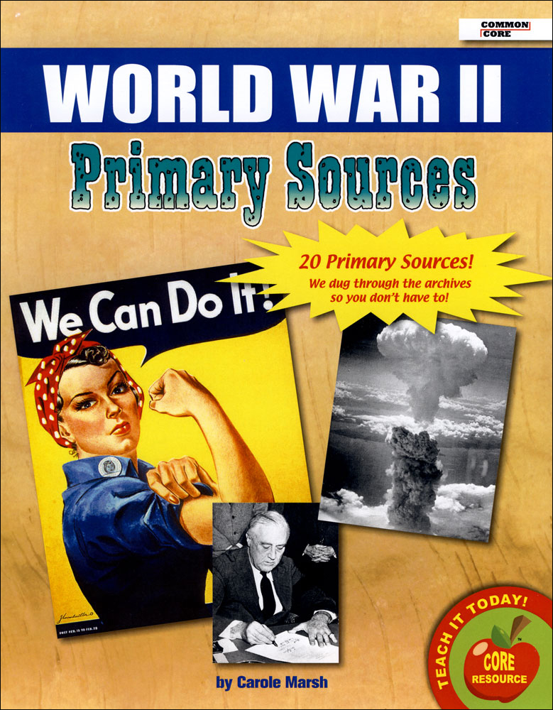 World War II Primary Source Document Set