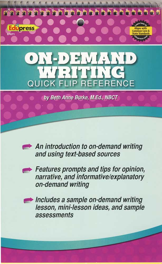 On-Demand Writing Quick Flip Reference