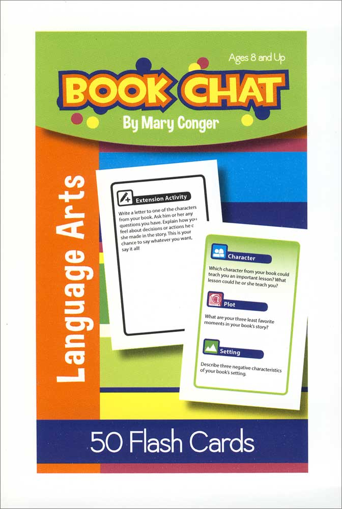 Language Arts Book Chat Flash Cards