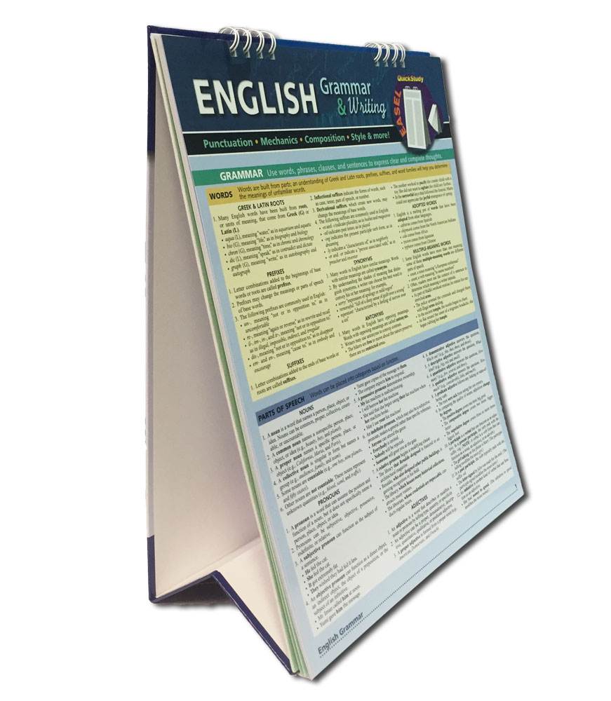 English Grammar & Writing Quick Study Easel