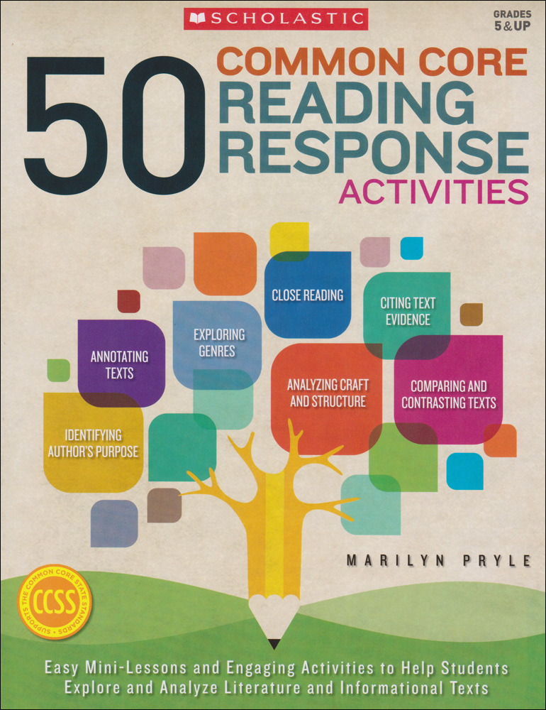 50 Common Core Reading Response Activities Book