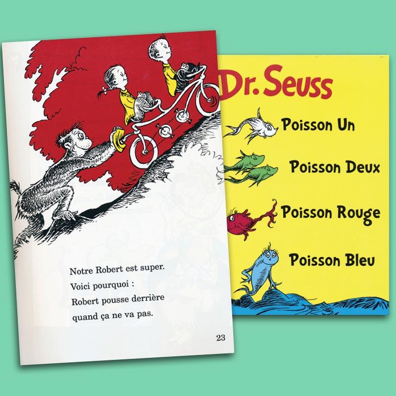 Poisson Un Poisson Deux Poisson Rouge Poisson Bleu French Story Book