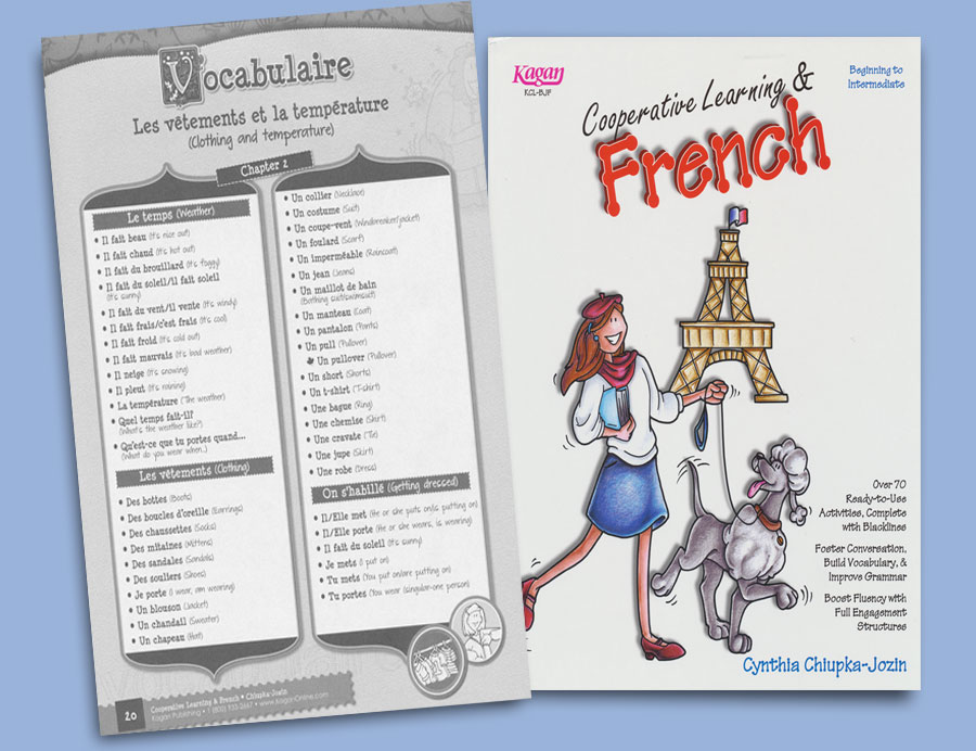 Cooperative Learning and French Reproducible Activity Book