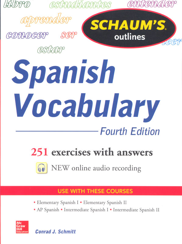 Schaum's Outlines Spanish Vocabulary Workbook