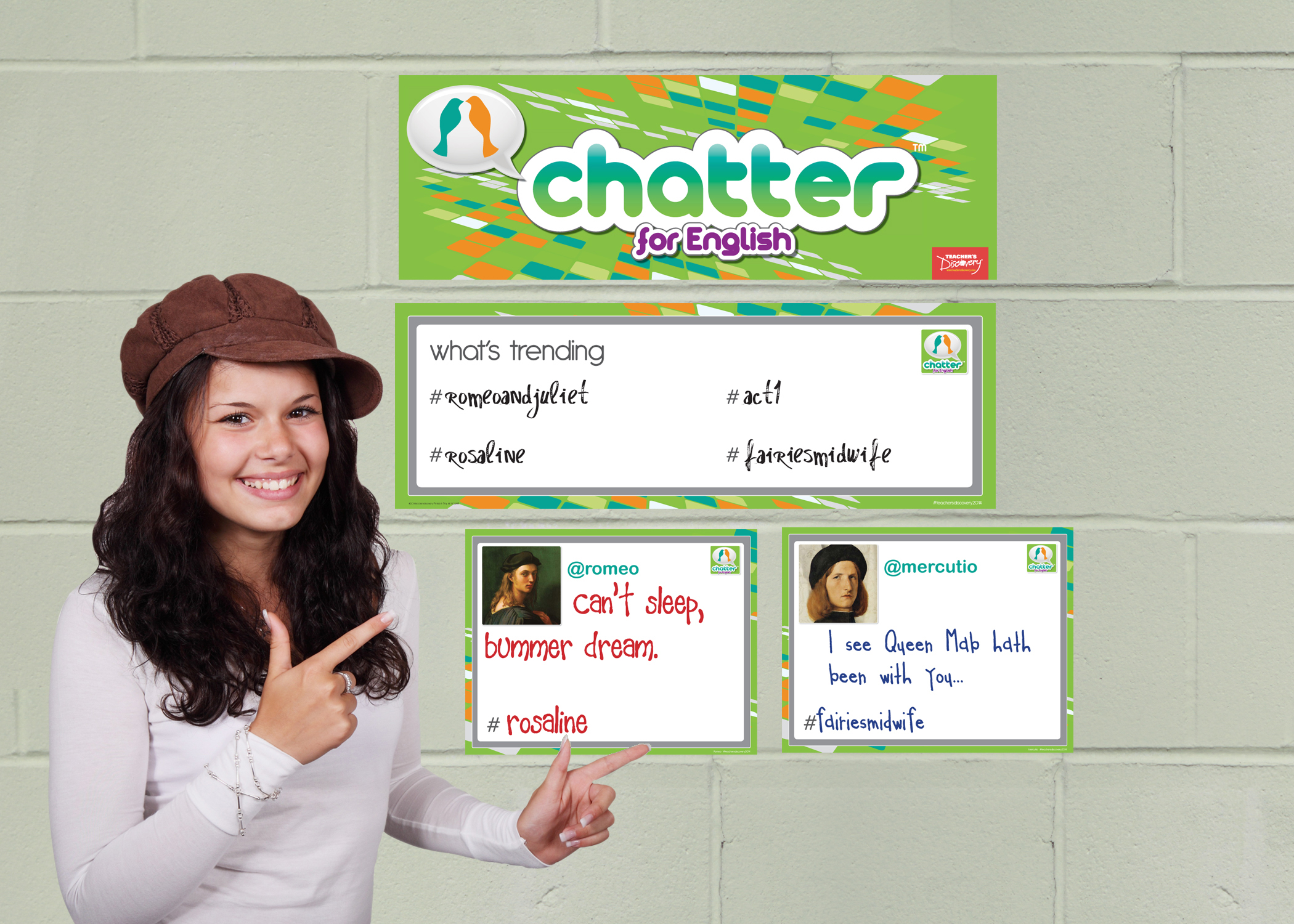 Chatter for English: Romeo and Juliet Dry-Erase Interactive Posters