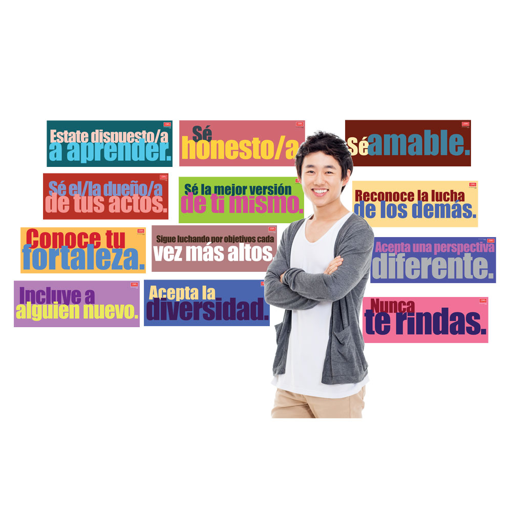 Character Building Spanish Signs Set of 12