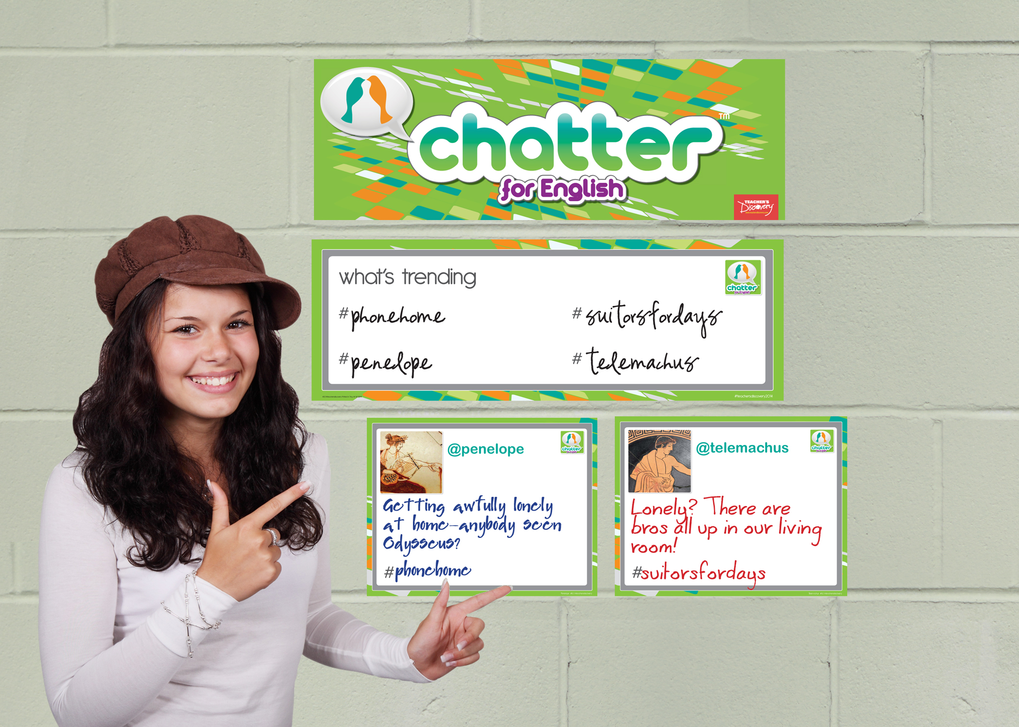Chatter for English: The Odyssey Dry-Erase Interactive Posters