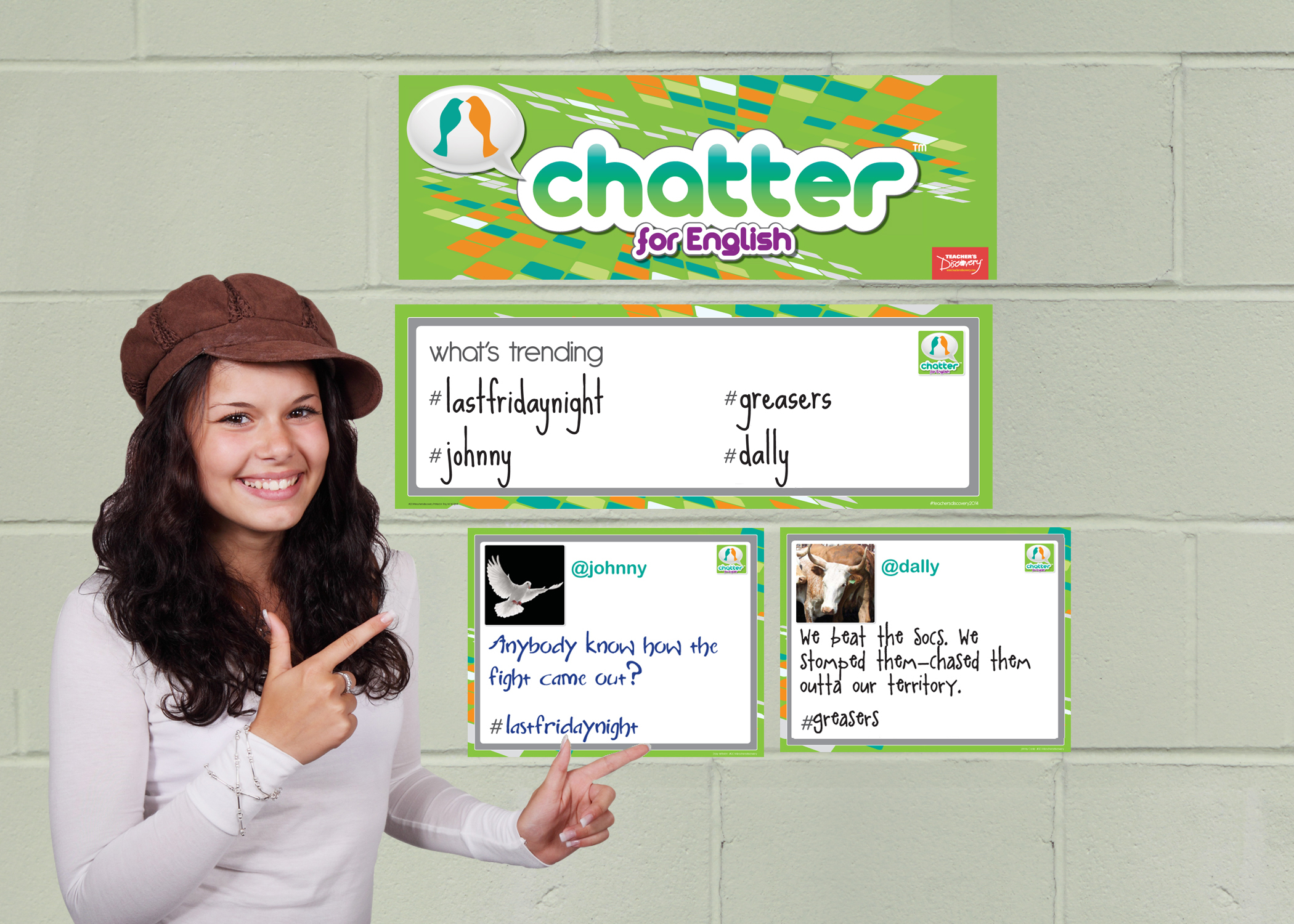 Chatter for English: The Outsiders Dry-Erase Interactive Posters
