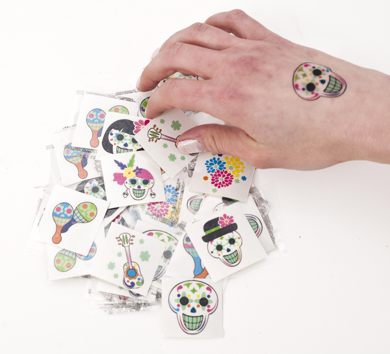 Glow in the Dark Day of the Dead Tattoos