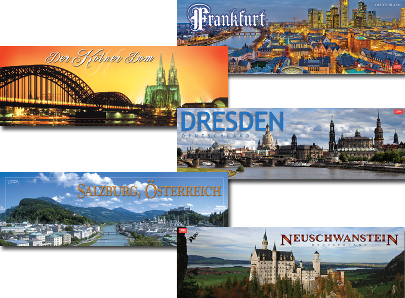 Panoramic German Posters Set of 5 Posters