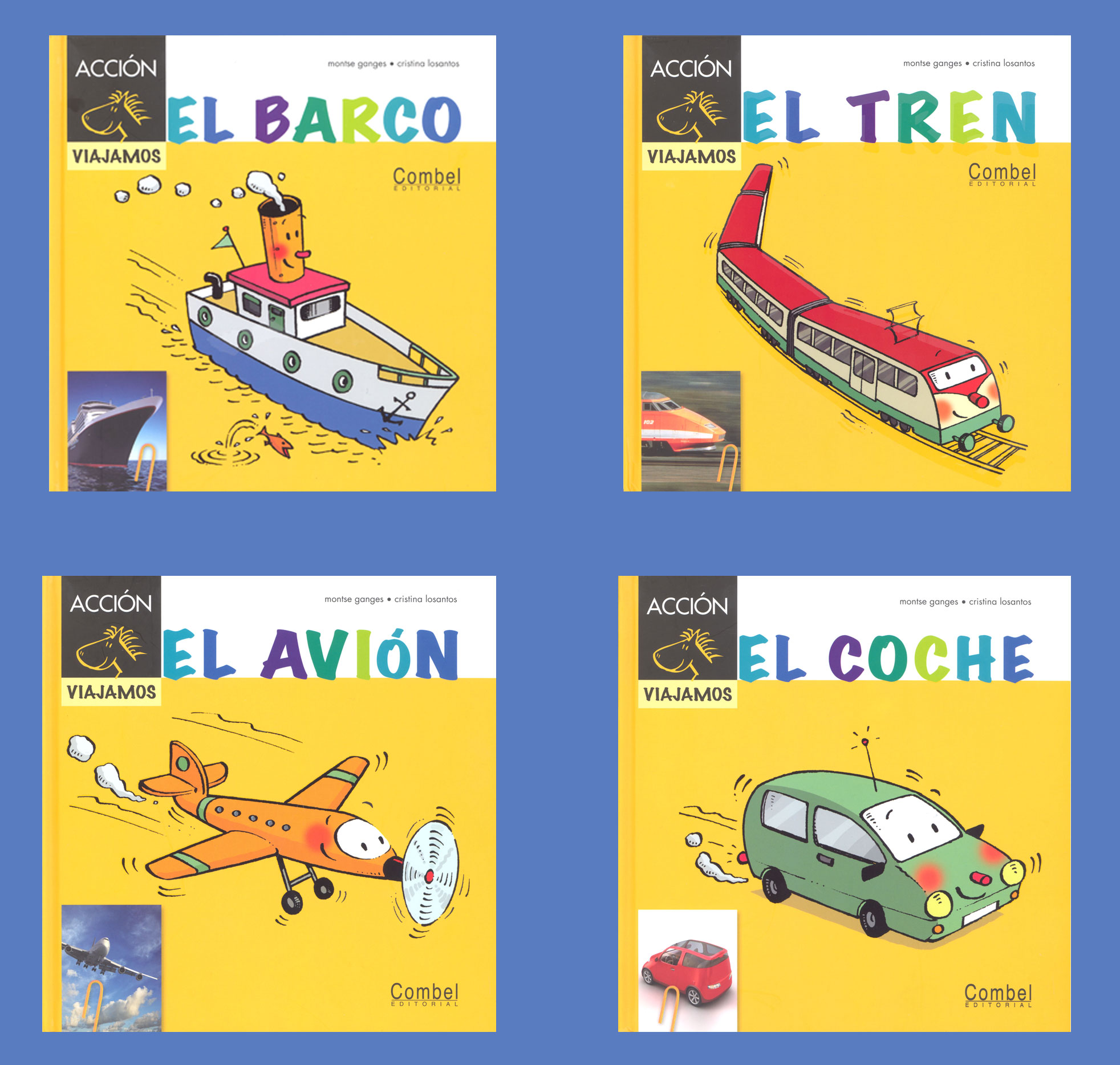 Transportation Spanish Storybooks Set of 4