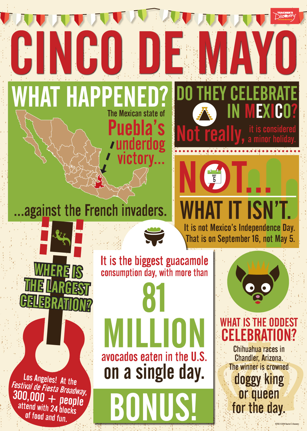Mexican Holidays Info Poster Set, Spanish: Teacher's Discovery