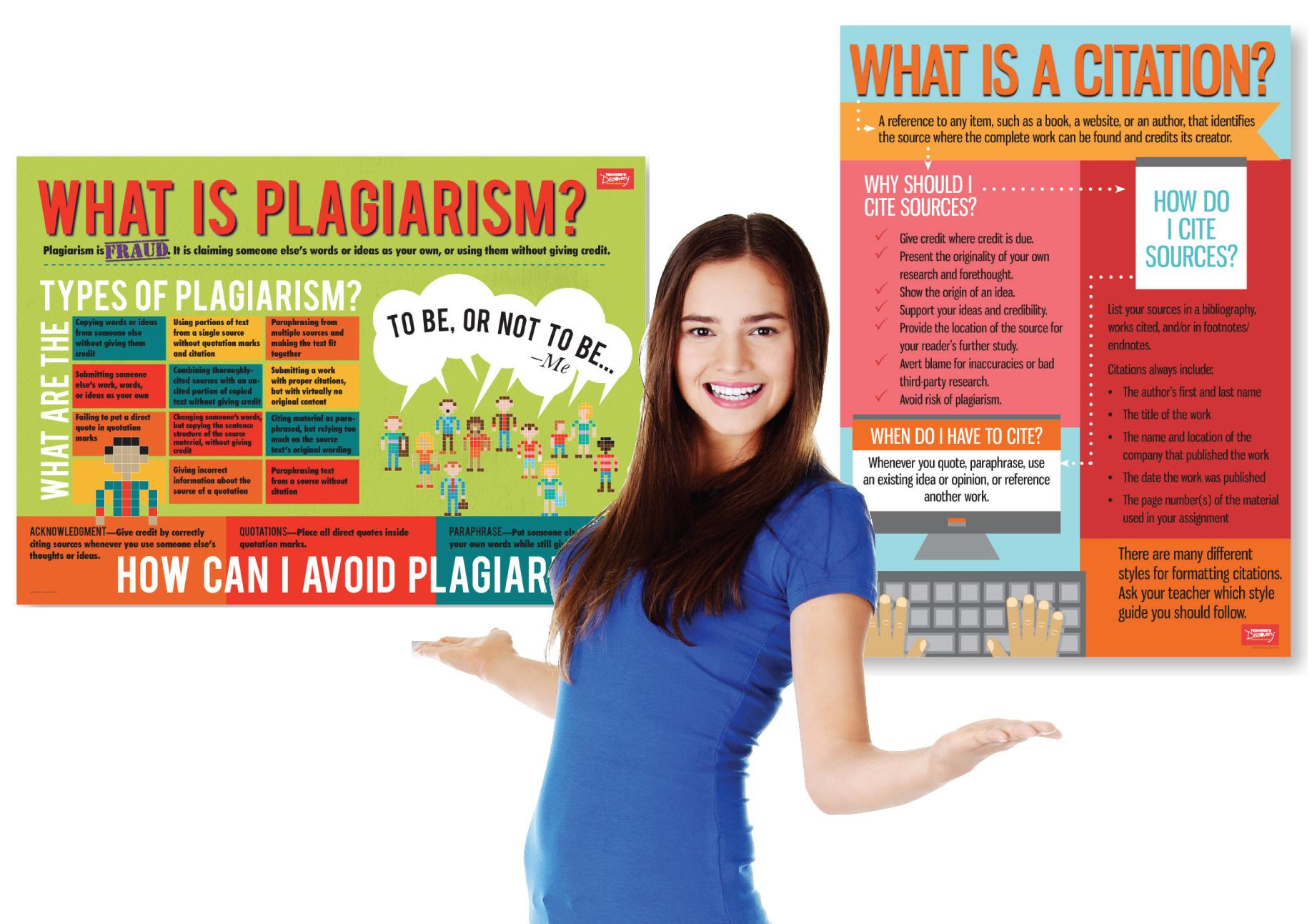 Plagiarism and Cite Sources Info Poster Set