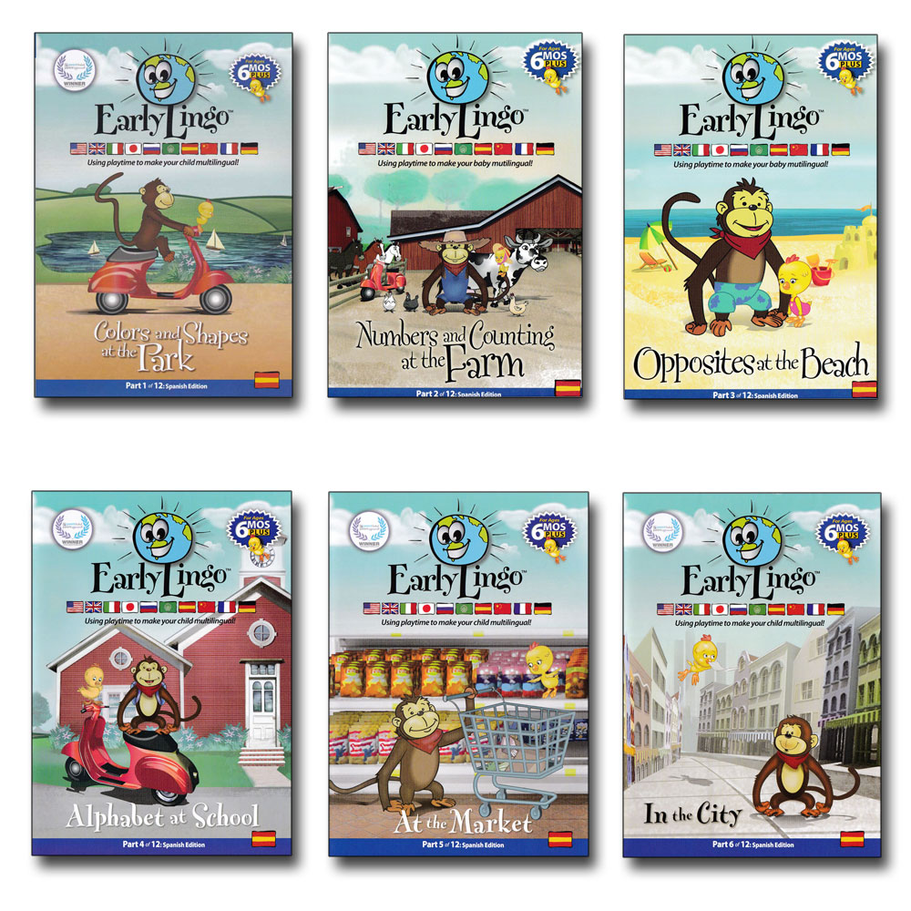 Early Lingo Spanish DVDs Set of 6