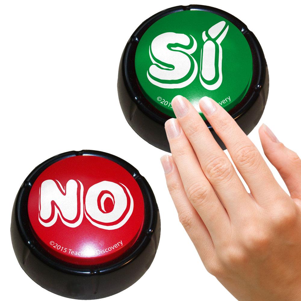 "Spanish ""YesNo"" Buzzers Set of 2"