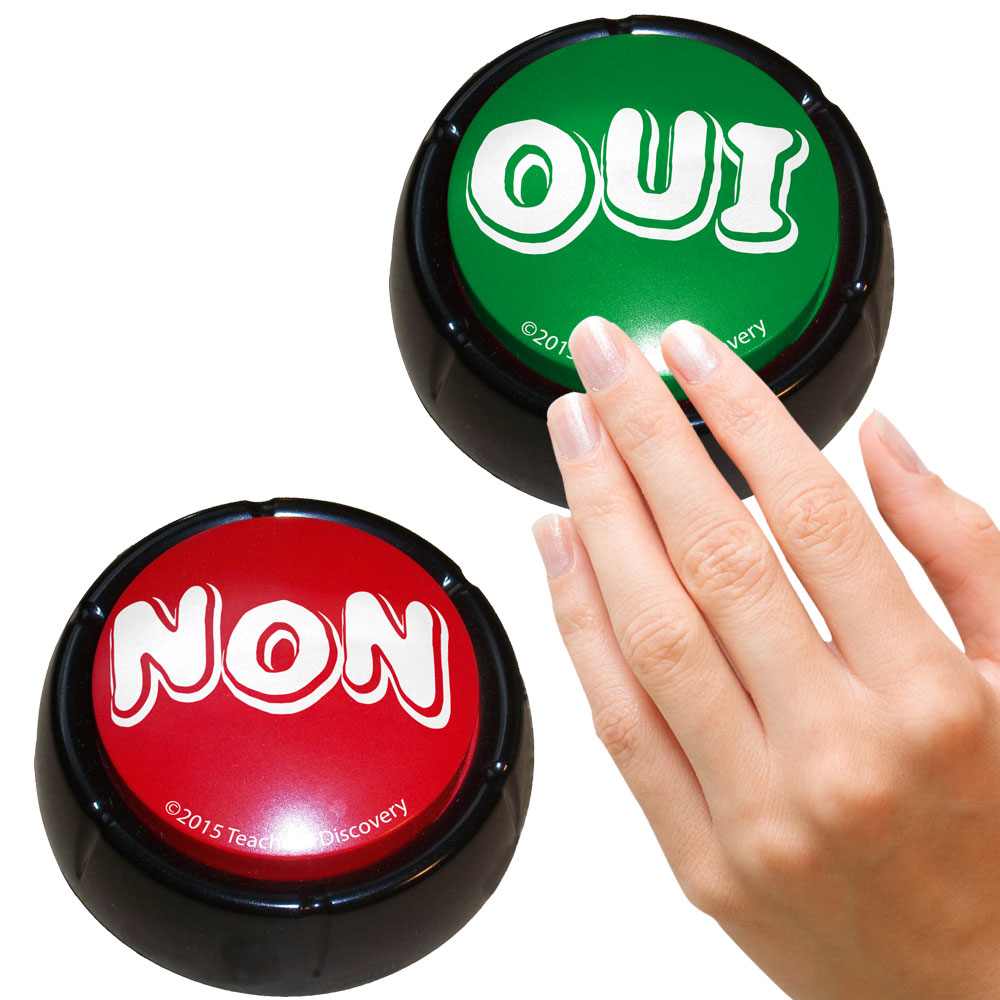 "French ""YesNo"" Buzzers Set of 2"