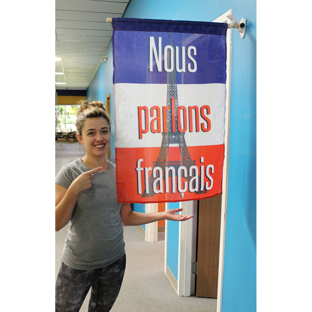 French Holiday Banners Set of 5