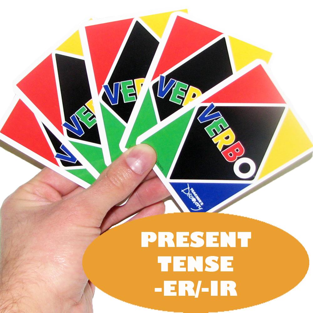 Verbo™ Spanish Card Game Present Tense -ER/-IR Verbs