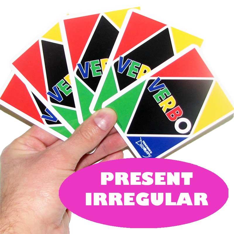Verbo™ Spanish Card Game Present Tense Irregular Verbs