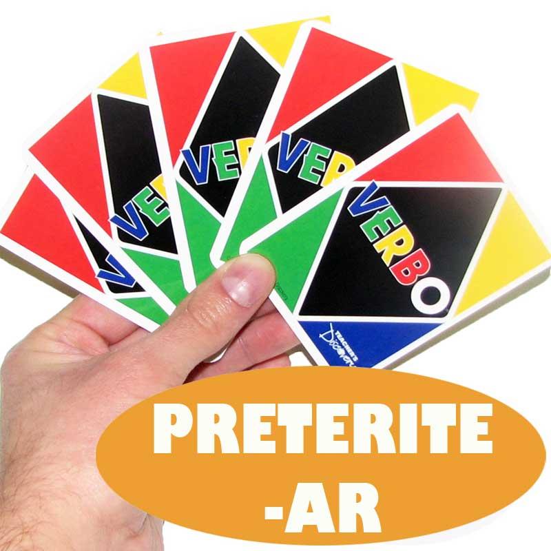Verbo™ Spanish Card Game Preterite Tense -AR Verbs