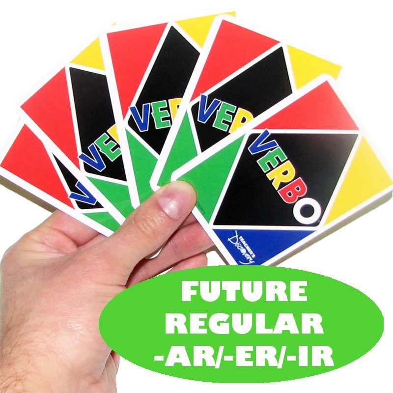 Verbo™ Spanish Card Game Future Tense Regular Verbs -AR/ER/IR