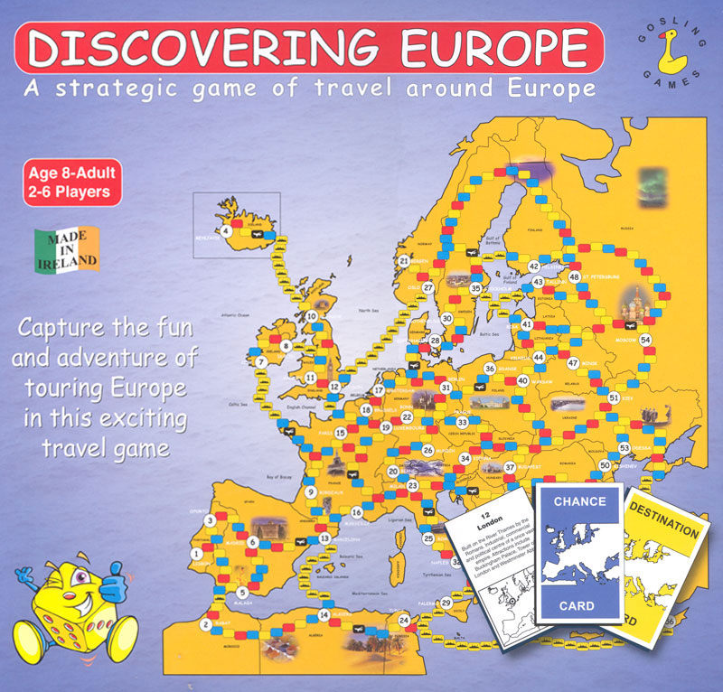 Discovering Europe Spanish/French/German Game