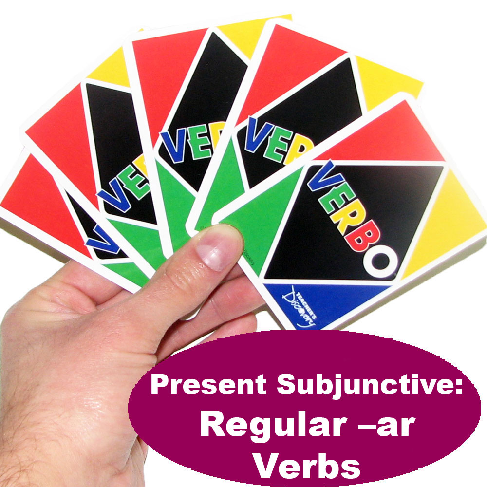 Verbo™ Spanish Present Subjunctive: Regular -ar Verbs Game