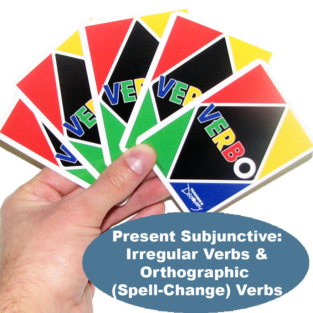Verbo™ Spanish Present Subjunctive: Irregular Verbs & Orthographic (Spell-Change) Verbs Game Verbs