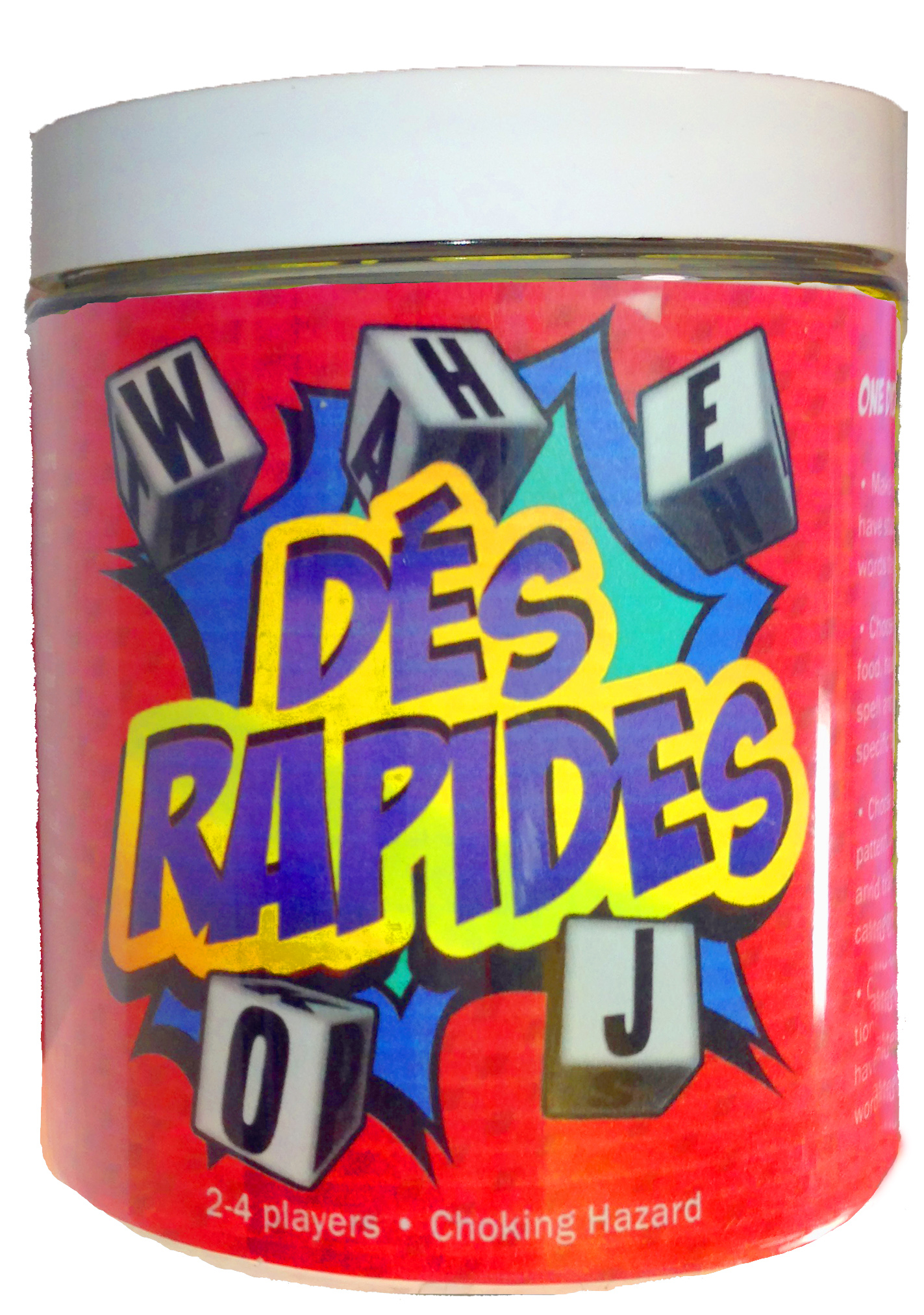 Dés Rapides the French Word Game