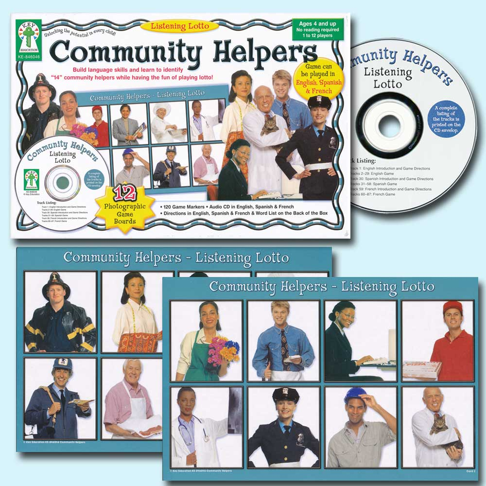 Listening Lotto Community Helpers Spanish/French Game