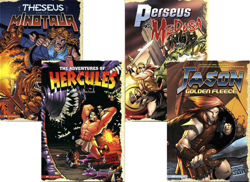 Mythology Graphic Novels Set of 4