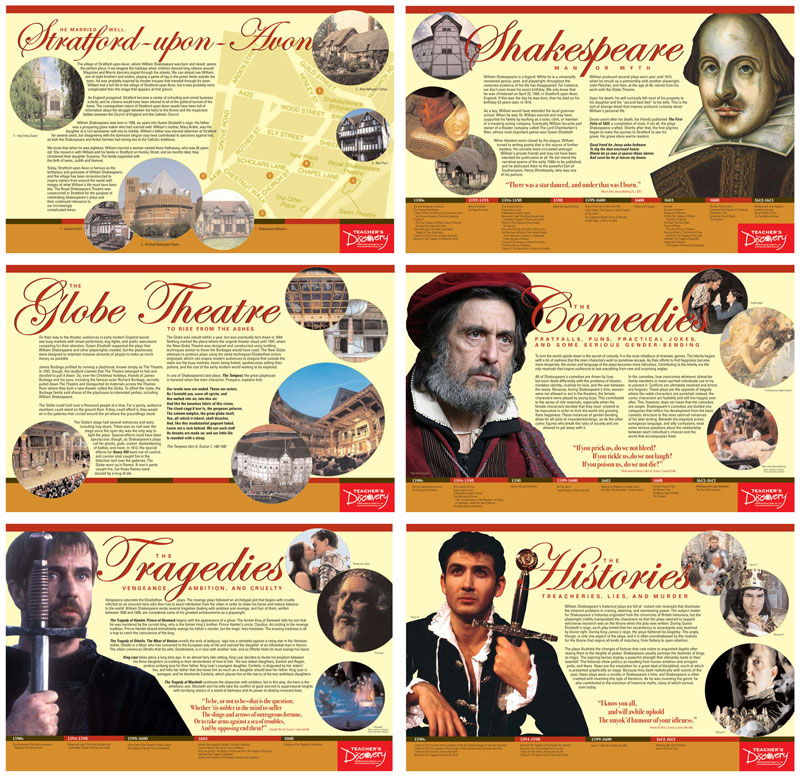 Shakespeare Mini-Poster Set