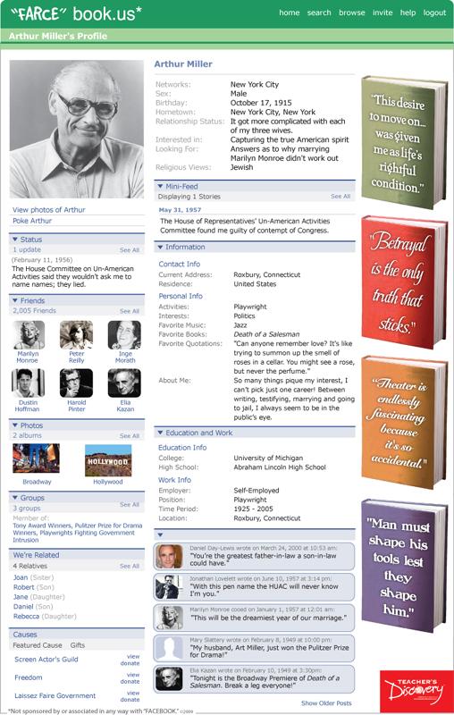 "Arthur Miller ""Farce"" book Poster"
