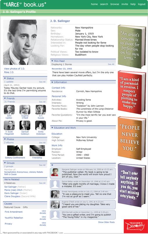 "J.D. Salinger ""Farce"" book Poster"