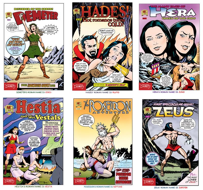 Mythology Posters ~ Set of 6