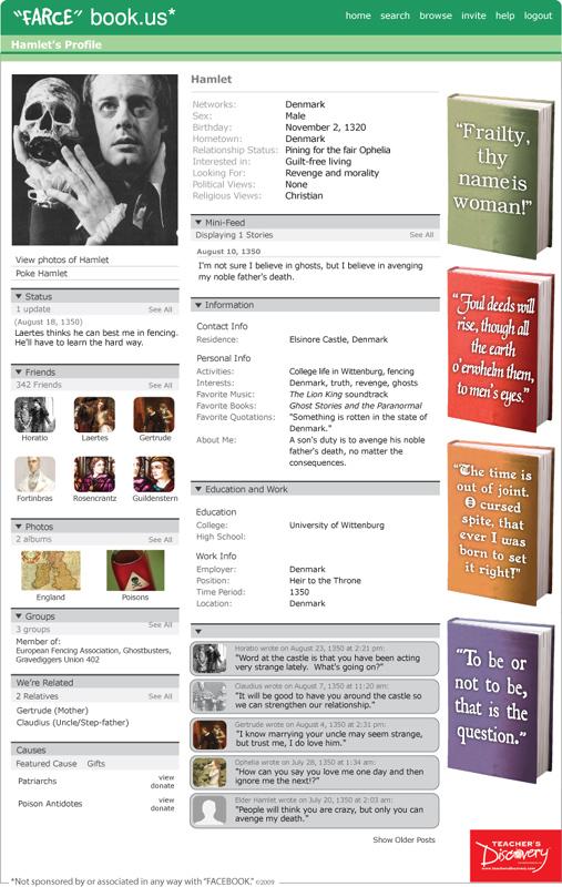 """Hamlet """"Farce"""" book Poster"""