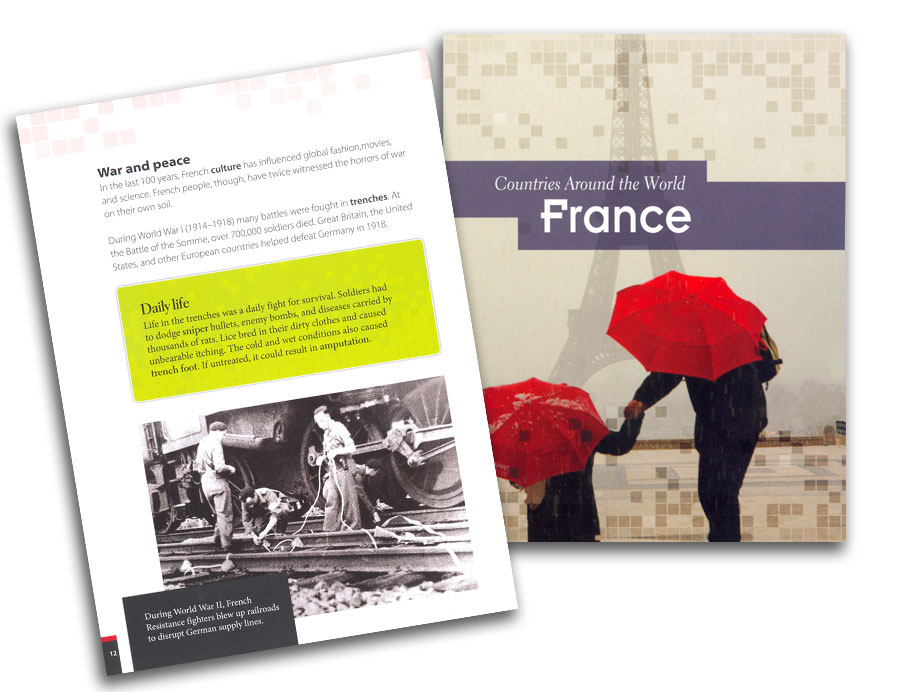 Countries Around the World France Book