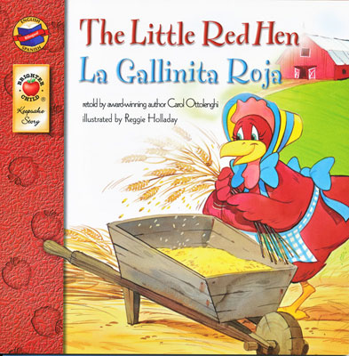 The Little Red Hen Spanish/English Book