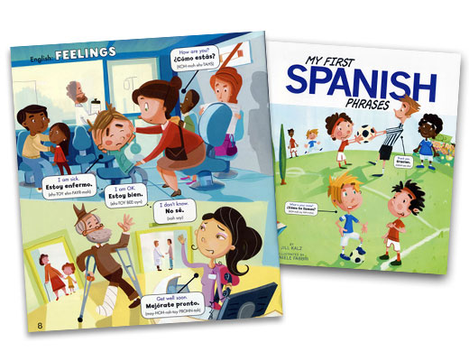 My First Spanish Phrases Bilingual Book