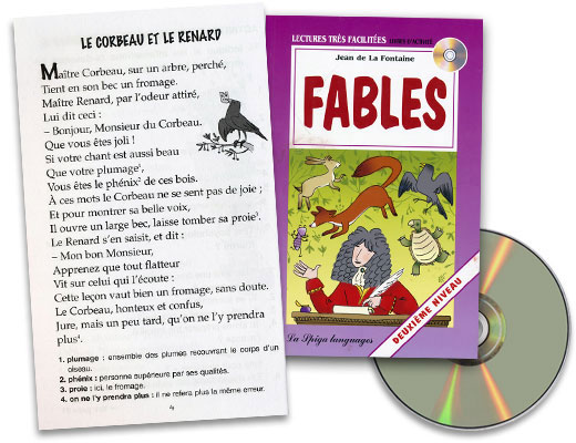 Fables French Reader + Audio CD Deuxiéme Niveau