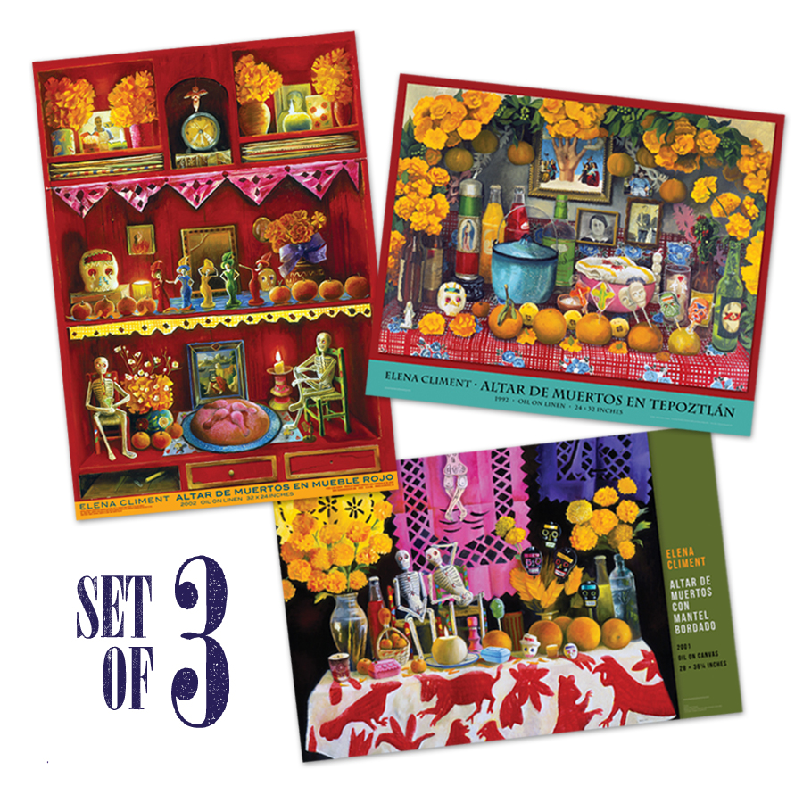 Spanish Day of the Dead Fine Art Posters Set of 3