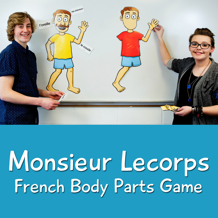 Monsieur Lecorps French Body Parts Game