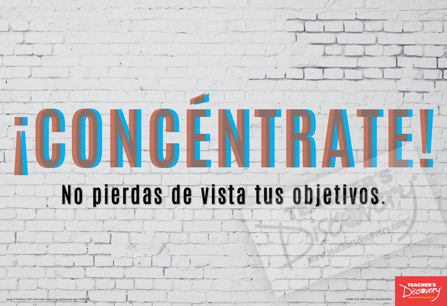 Concentrate Spanish Mini-Poster