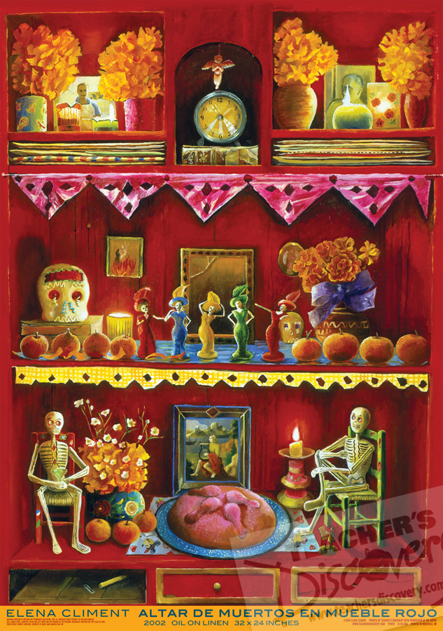 Altar in Red Cupboard Spanish Fine Art Poster
