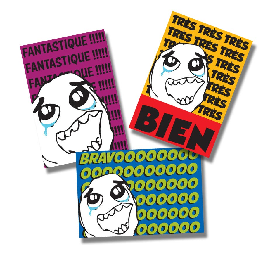 Tears of Joy French Stickers