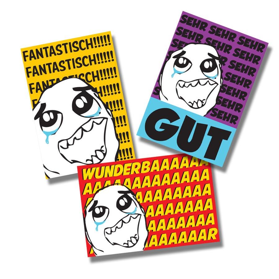 Tears of Joy German Stickers