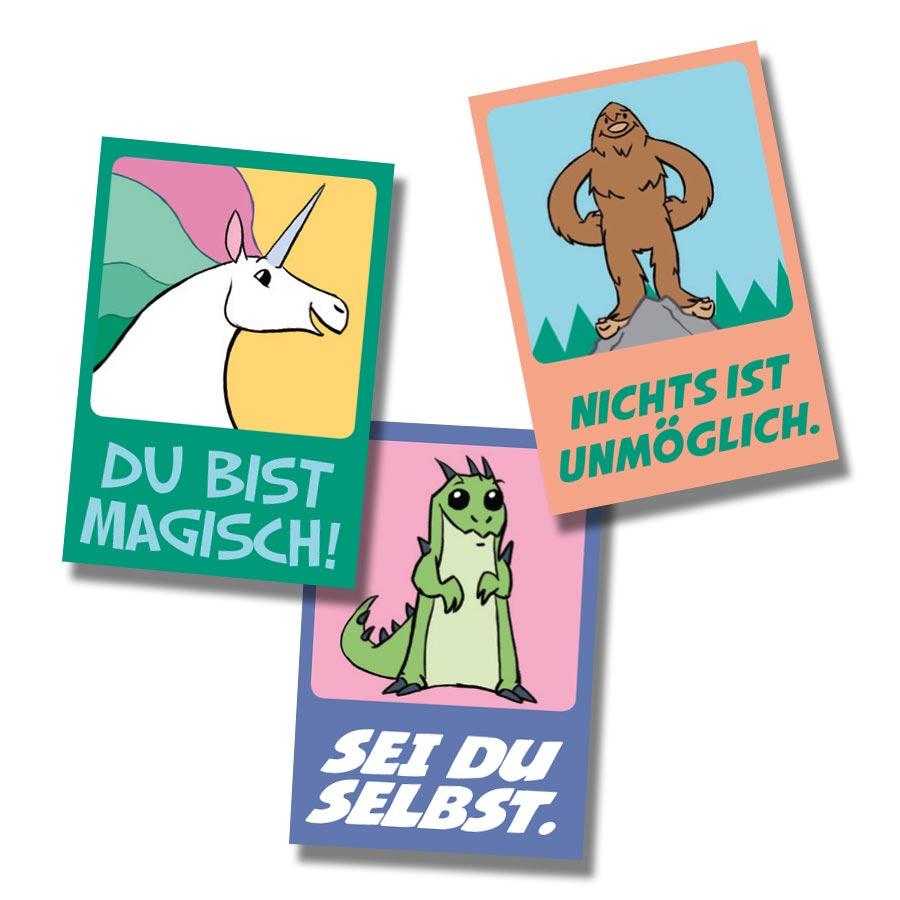 Believe German Stickers